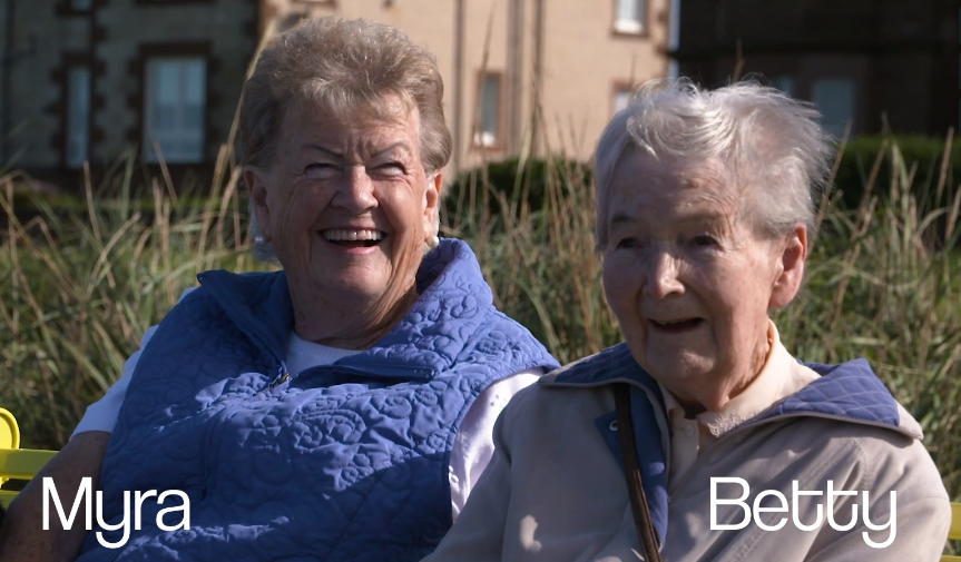 Dementia Friendly Promenade – Myra and Betty